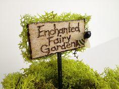 Enchanted Fairy Garden Sign