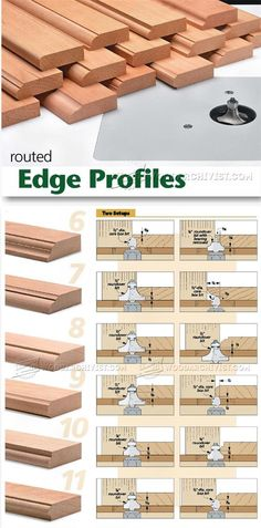 Routed Edge Profiles - Router Tips, Jigs and Fixtures | WoodArchivist.com