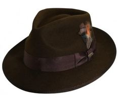 766d5327b77 Brown Fedora Men s Hat Brown Hat Fedora Wide by BuffaloGalVintage