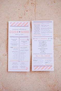 pink and purple wedding invitations from Minted // photo by HalfOrangePhotography.com