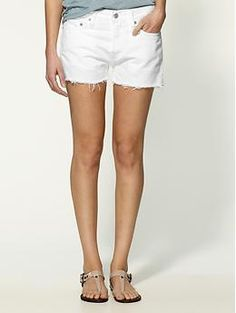 White shorts are a must for a summer woredrobe.   Levi's Worn Roll 501 Short | Piperlime