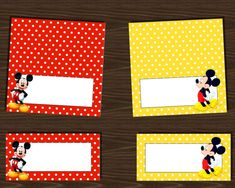 INSTANT DOWNLOAD Mickey Mouse food labels assorted by NhelyDesigns, $5.00