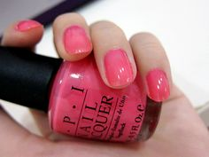 o.p.i. elephantastic pink- got this color on my toes today!!