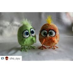 #Repost @cho_oyu with @repostapp ・・・ #валяние #авторская_игрушка #интерьерная_игрушка #валяшки #герои_мультиков #фильцнадель #фельт #цыпленок #птички #felt #needlecraft #needlefelting #my_toys #handarbeit #handmade #birds