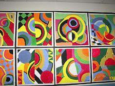 Frank Stella inspired protractor pictures