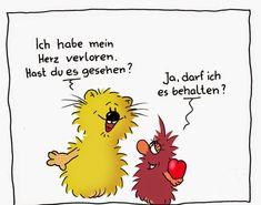 Sprüche Am Valentinstag Mit Süßer Karikatur