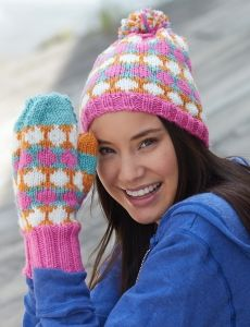 Cloche Hat and Mittens | Yarn | Free Knitting Patterns | Crochet Patterns | Yarnspirations