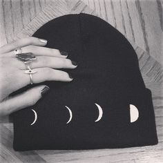 Lunar Phase Toque   Beanie by NOCTEX on Etsy 78fc7f6d9f45