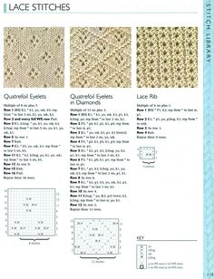 Archivio album Lace Knitting Stitches, Crochet Doily Patterns, Easy Knitting Patterns, Knitting Charts, Lace Patterns, Baby Knitting, Stitch Patterns, Doilies Crochet, Clothes Patterns