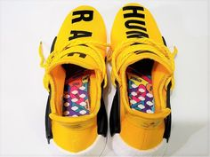 Adidas X Pharrell Williams NMD HU Human Race new Yellow Athlete Running  Sneakers Human Race Nmd 2376de9d3