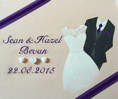 Wedding canvas Name Canvas, Canvas Artwork, Wedding Canvas, Happy Day, Wedding Outfits, Formal Dresses, Paint, Art On Canvas, Wedding Undergarments