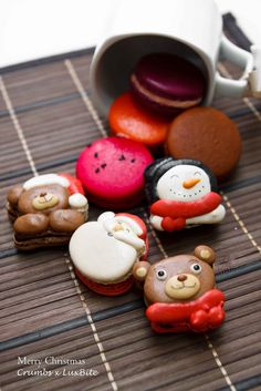 Colourful Christmas Macarons By Crumbs X LuxBite - Malaysian Flavours|Malaysian Flavours