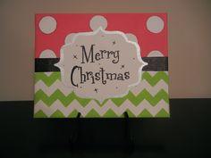 Merry Christmas Canvas. $25.00, via Etsy.