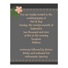 lightly peach invitation - spring wedding diy marriage customize personalize couple idea individuel