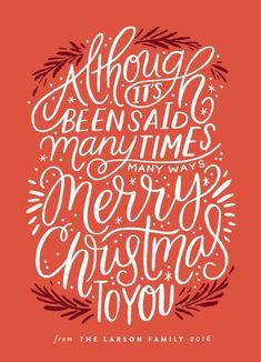 Christmas Phrase Merry Christmas Holiday Card by Minted artist, Alethea and Ruth. Customizable by you on Minted Phrase Merry Christmas Holiday Card by Minted artist, Alethea and Ruth. Customizable by you on Minted. Christmas Design, Christmas Art, Christmas Holidays, Christmas Decorations, Christmas Poster, Christmas Drawing, Winter Holiday, Holiday Fun, Happy Holidays