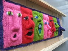 Exhibit in melbourne, australia by fiber & textile artist, annette fitton aka 'nini' of nini & wink - seen on: Crochet Me Lovely - makinology: amazing !… exhibit in melbourne,...
