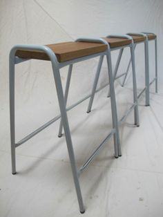 Retro Industrial Stacking Science Lab School Cafe Bar Kitchen Stools