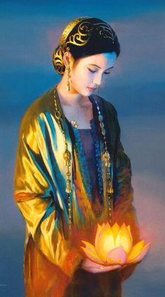 Lotus Bearer - oil by ©Jia Lu