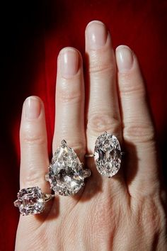 Priceless diamonds in South Africa -  From the left to the right in order: 30 kt, 20 kt, 12 kt.