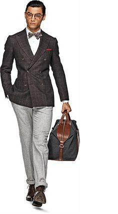 wool silk cashmere blazer by Drago Soho, Suit Supply, Brown Suits, Three Piece Suit, Tailored Jacket, Gentleman Style, True Gentleman, Suit And Tie, Well Dressed Men