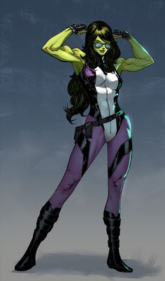 She-Hulk - Harrison Tombra Yinfaowei colors by SpiderGuile.deviantart.com on @DeviantArt