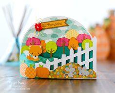 """Brigit's Scraps """"Where Scraps Become Treasures"""": Hi Pumpkin Bendi Card - Dreaming Tree"""