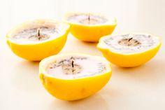 When Life Gives You Lemons… Make Lavender Lemon Candles! via Brit + Co.
