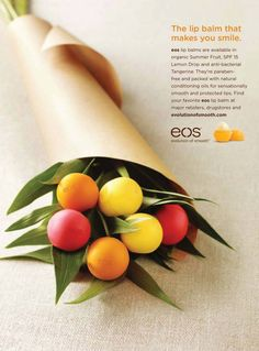 eos yummy lip balm...can't lose this in my purse!