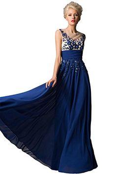 Dora Bridal Women´s Chiffon Blue Long Evening Prom Dress With Sequins Size 2 US Blue Dora Bridal http://www.amazon.com/dp/B015ITQHIG/ref=cm_sw_r_pi_dp_KyClwb0712V50