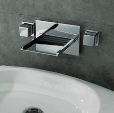 bathroom sink waterfall faucet touchless - Google Search