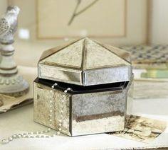 Antique Mirror Small Jewelry Box- Pottery Barn