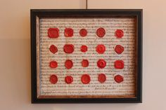 Wonderful set of C19th Wax Seals Recently Mounted & Framed