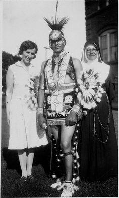 Jack Hokeah (Kiowa) and Sister M. Olivia Taylor (Choctaw-Chickasaw), O.S.F., 1929, via Flickr.