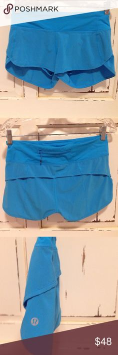 Lululemon blue athletic shorts Super comfy athletic shorts. In perfect condition, worn once! lululemon athletica Shorts
