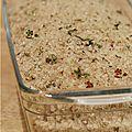 Je cache mon foie gras cru dans un bain de gros sel parfumé aux herbes & aux épices ...