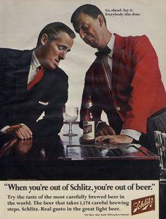1967 Schlitz Beer Vintage Advertisement Print by AdVintageCom