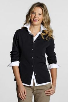 Cardigans.  Love a cardi with a white blouse.