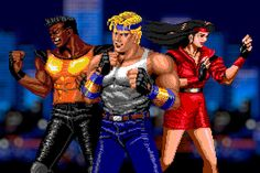 Adam, Axel, and Blaze from Streets of Rage.