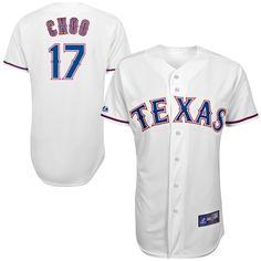 11ae62f78f5 Majestic Shin-Soo Choo Texas Rangers Youth Replica Player Jersey - White  Rangers Baseball