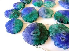 ULTRAMARINE & EMERALD Green Solar Quartz Slice Focal Beads, assorted sizes, necklace, pendant, unique, ooak, druzy, jewelry beading supplies