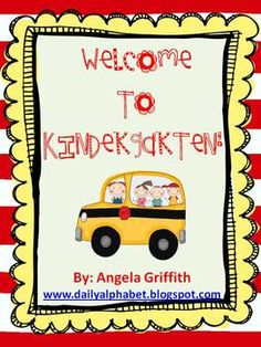 Back to School activities for Kindergarten!