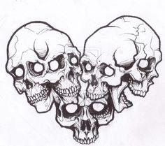 black and white skull and rose drawings Skull Tattoo Design, Skull Design, Tattoo Designs, Stencils Tatuagem, Tattoo Stencils, Skull Stencil, Skull Art, Bird Skull, Love Tattoos