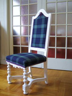 Tartan chair- minus the silly skinny bow