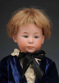 Bisque Doll; Gebruder Heubach, Pouty Character Child