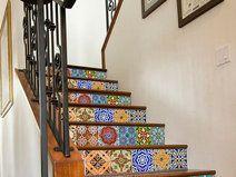 Wandtegels stickers voor trappen patroon deco trap bekleden