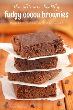 These fudgy brownies are SO rich & decadent! No one would ever guess they're secretly skinny & low fat. You'll never use another recipe agai...