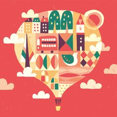 Take a ballon _suzuki tomoko Posca, Mother And Father, Print Ads, Fashion Sketches, Cool Pictures, Xmas, Christmas, Balloons, Doodles