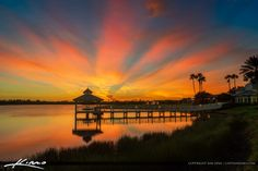 Amazing blast of colors during sunset over the Tradition in Port St Lucie…