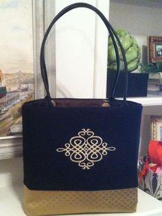 Fabulous hand-made tote. NeenaKateCollection on Facebook. bridesmaid idea!!