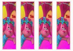 Trolls Holiday Bookmarks – Birthday Printable